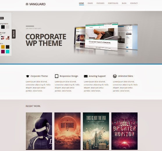 Vanguard Responsive WordPress Theme