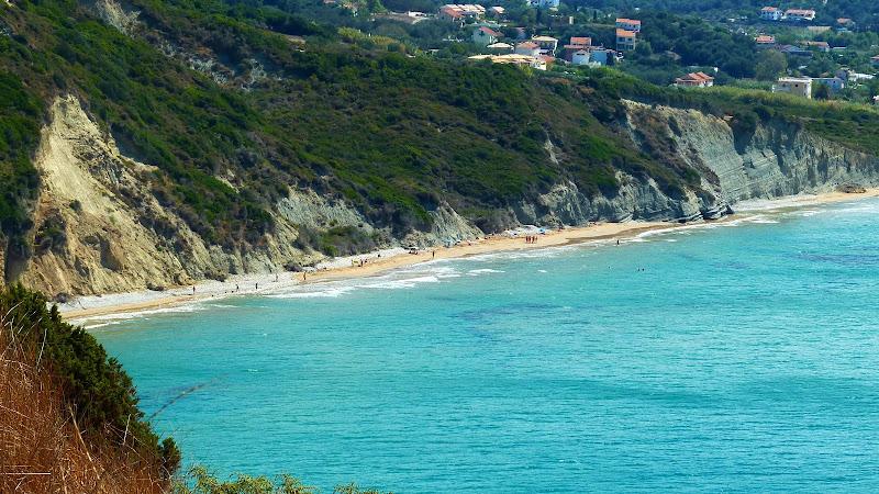 Der nördliche Teil des Strandes von Arillas (Korfu, Griechenland)