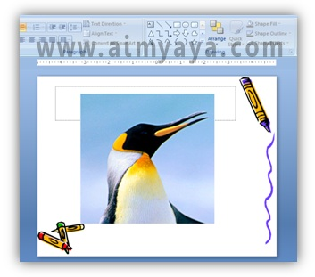 Gambar:  Contoh hasil cropping gambar di powerpoint