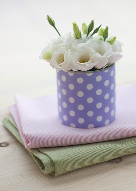 Tutorial jarron forrado de lunares - DIY polka dot vase