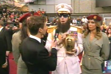 sasha baron cohen el dictador en los oscars 2012 borat