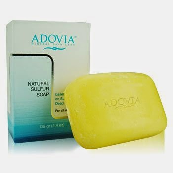 Adovia Sulfur Soap for Acne, Blackheads and Oily Skin with Dead Sea Salt