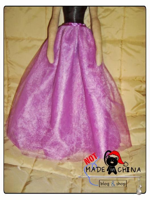 długa spódnica z tiulu