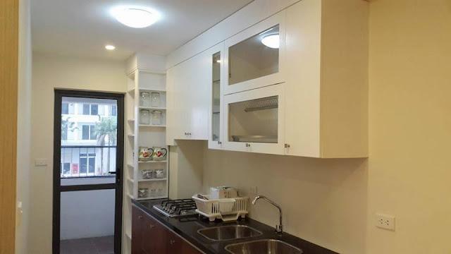 Thiết kế kệ bếp chung  cư ct3 tây nam linh đàm