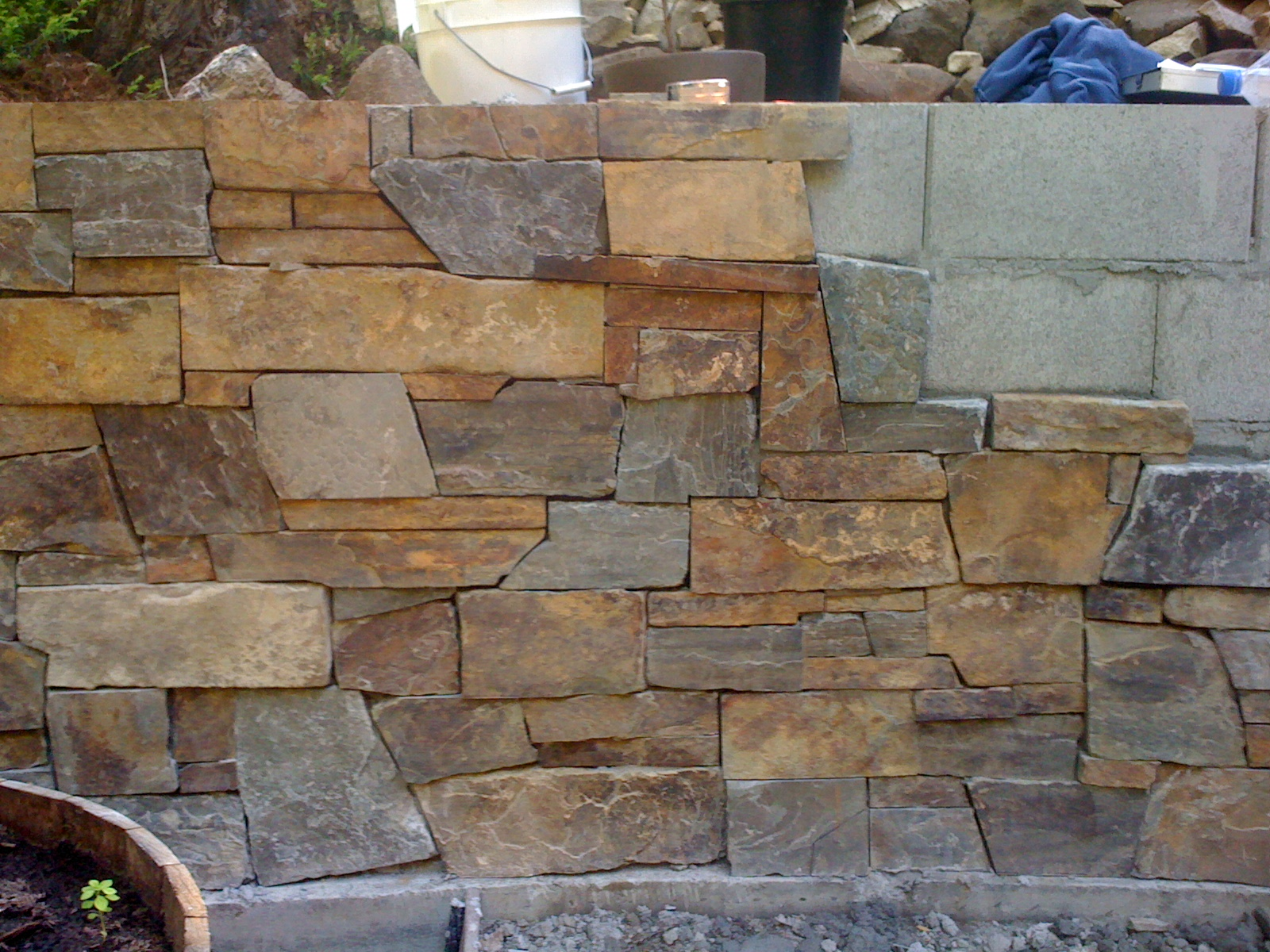 Living waters landscaping asheville santa cruz for Brick and stone veneer