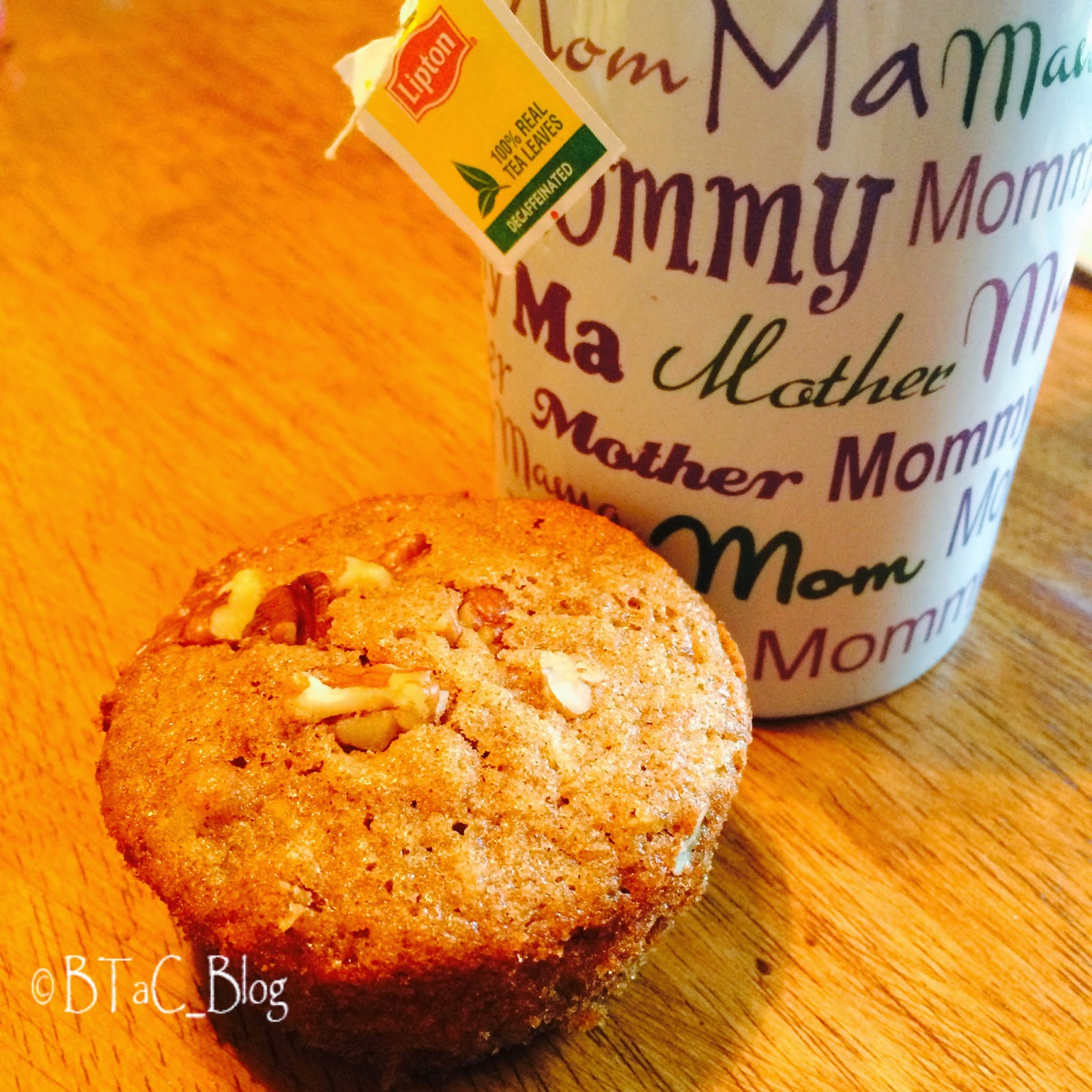 A carrot cake muffin is the perfect company for a cup of tea.