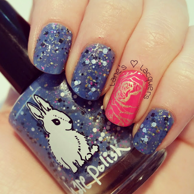 humpday-hare-polish-hidden-treasures-in-a-bowl-of-roses-nail-art