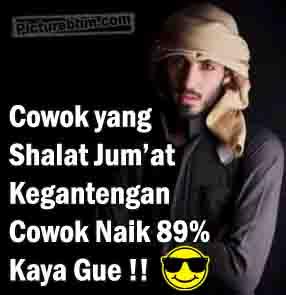 Display Picture BBM Cowok Ganteng Sholat Jum'at