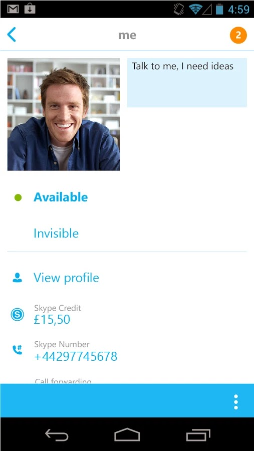 Skype - free IM & video calls v5.4.0.4165