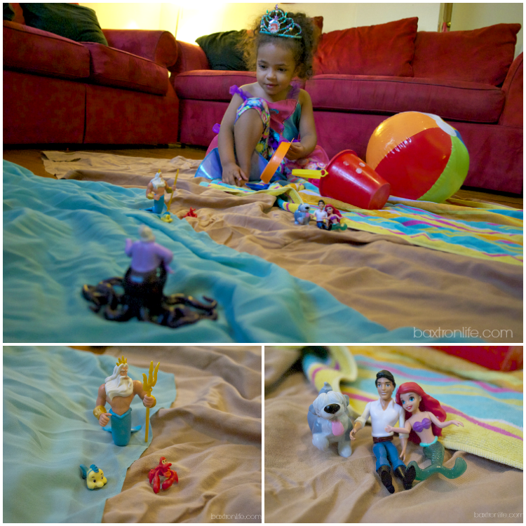 Disney The Little Mermaid Play Set with Ariel, Flounder Toy and Sebastian Toy #shop