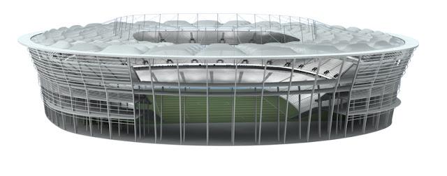 Imagem do projeto da Arena Fonte Nova