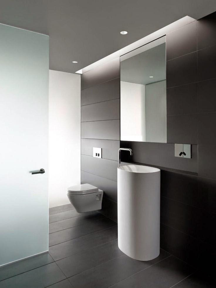 27 ba os minimalistas en fotos cuando menos es m s Diseno lavabos pequenos