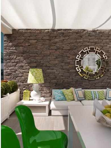 Sala De Estar Verde E Azul ~ Perfect Home Sala Leve e Fresca  Light and Fresh Living Room by