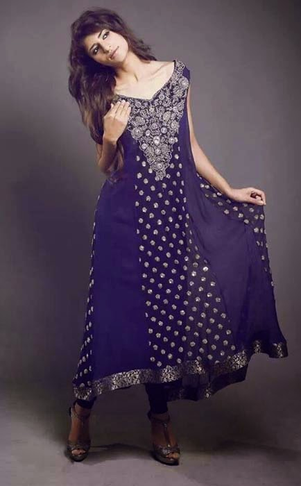 New Party Wear Winter Dresses Collection 2014 For Women And Girls By Sanober Siddiq