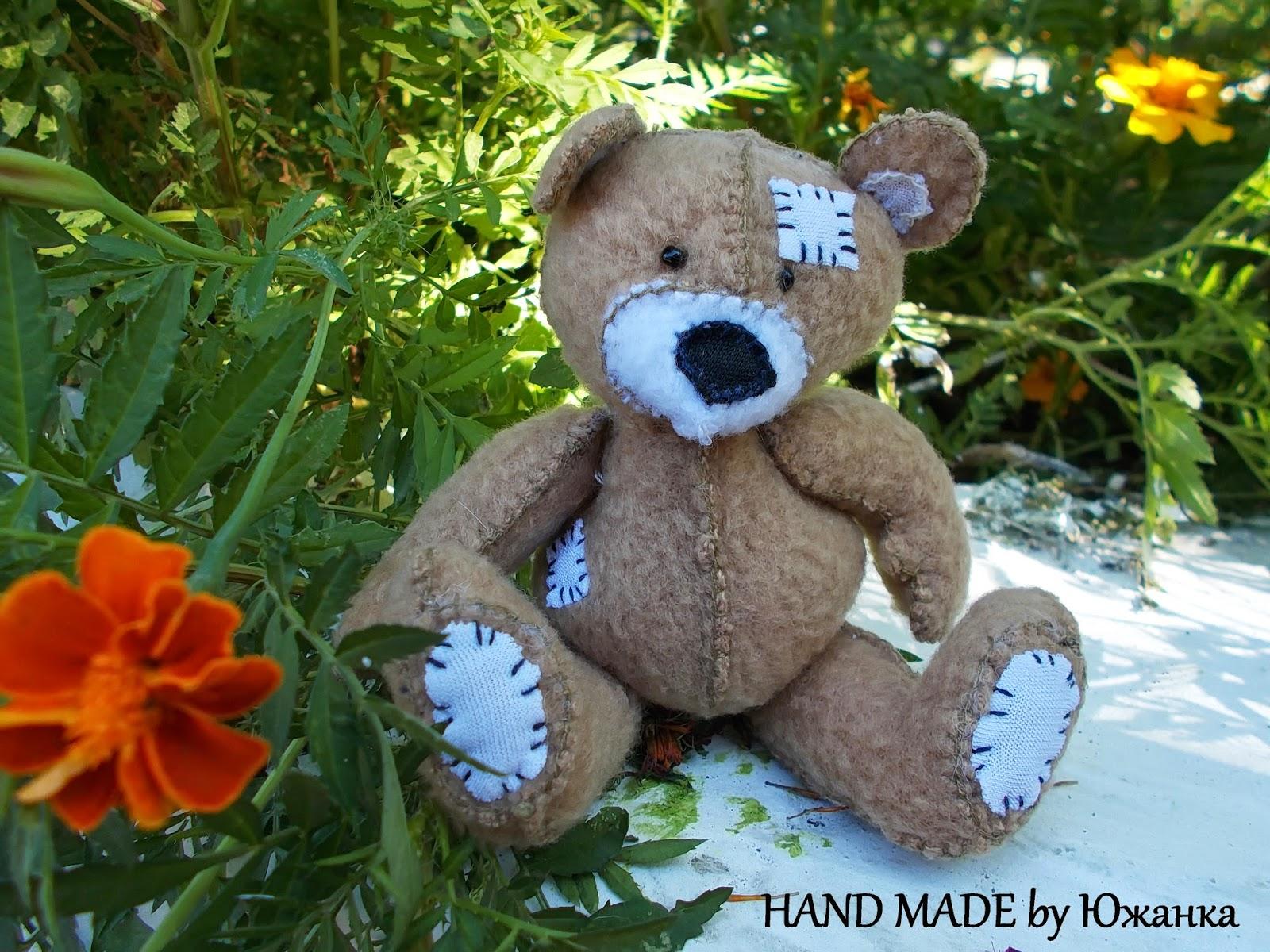 игрушка мягкая медвежонок Тедди из флиса