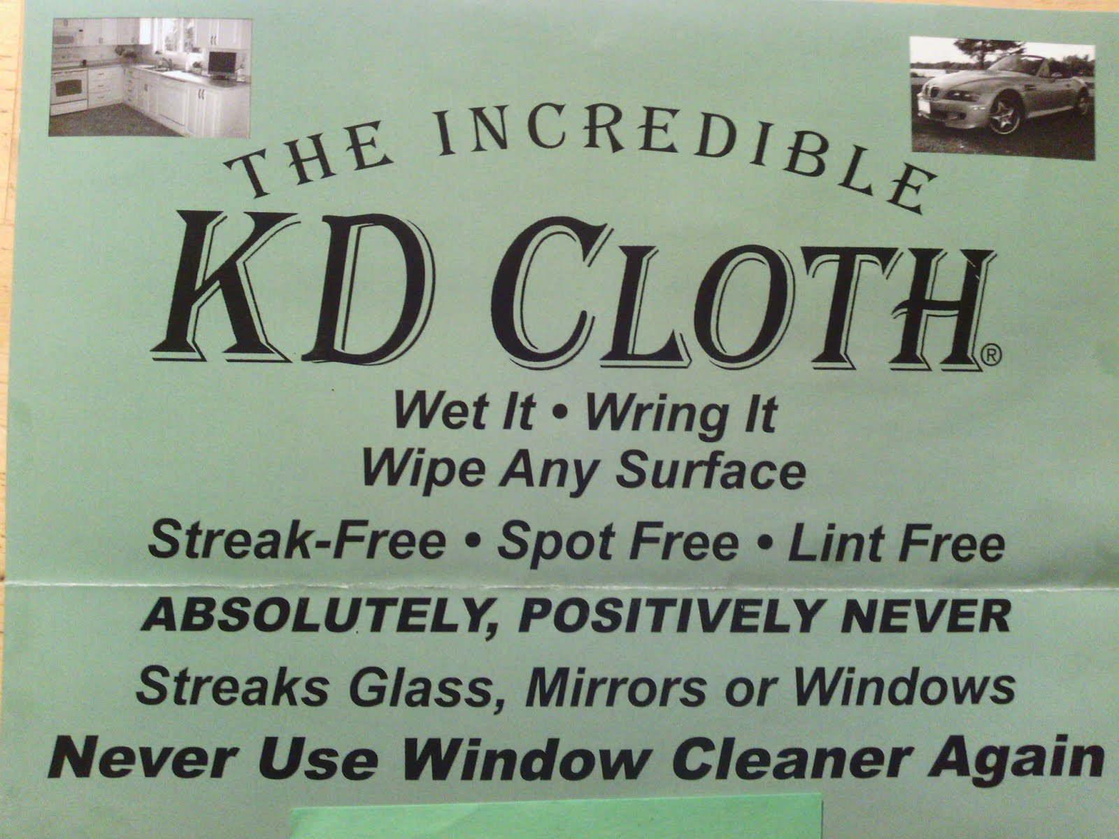 The INCREDIBLE KD Cloth..coming clean