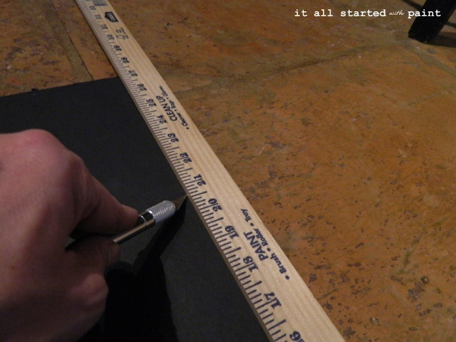 Foam Core Panels Home Depot : It all started with paint chalkboard door from builder