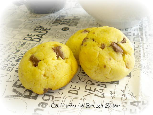 Cookies de leite condensado com choc chips