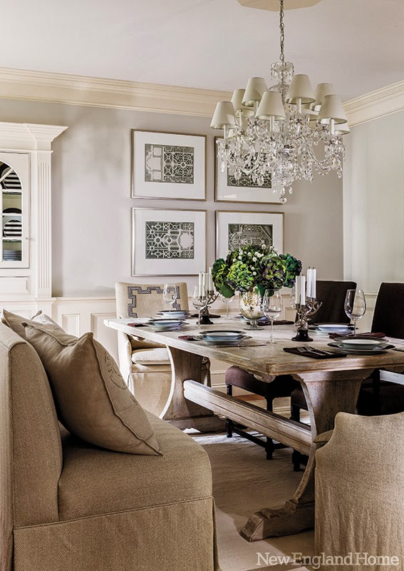 Home tour an eclectic and elegant massachusetts home for New england dining room ideas