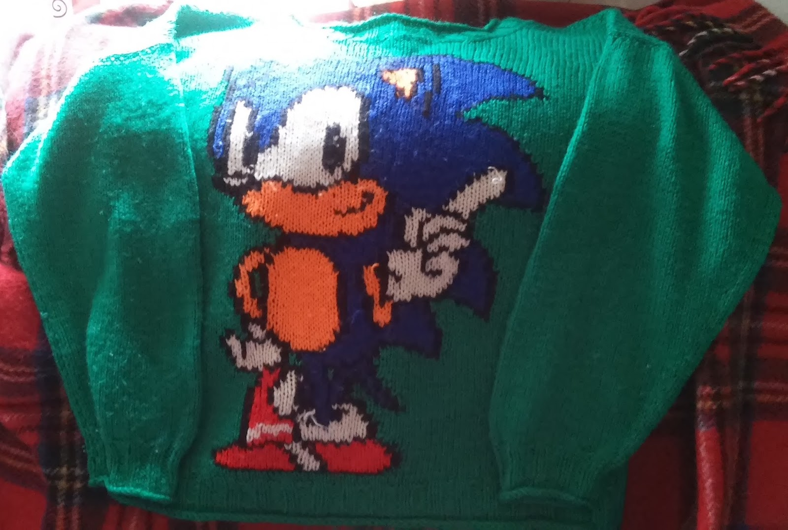 Free Time Crocheter Sonic The Hedgehog Sweater
