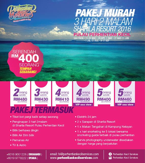 Pakej Pulau Perhentian Terengganu 2016