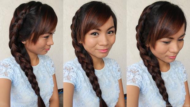 real asian beauty side dutch braid