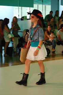 Momento del desfile de Bóboli en 080 Barcelona Fashion