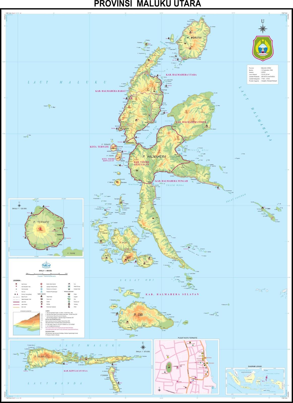 Peta Provinsi Maluku Utara (Malut)