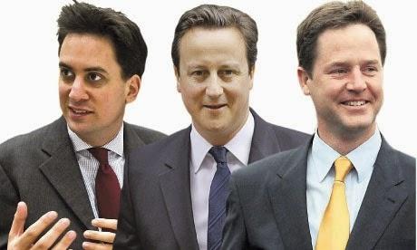 Milliband, Cameron, Clegg