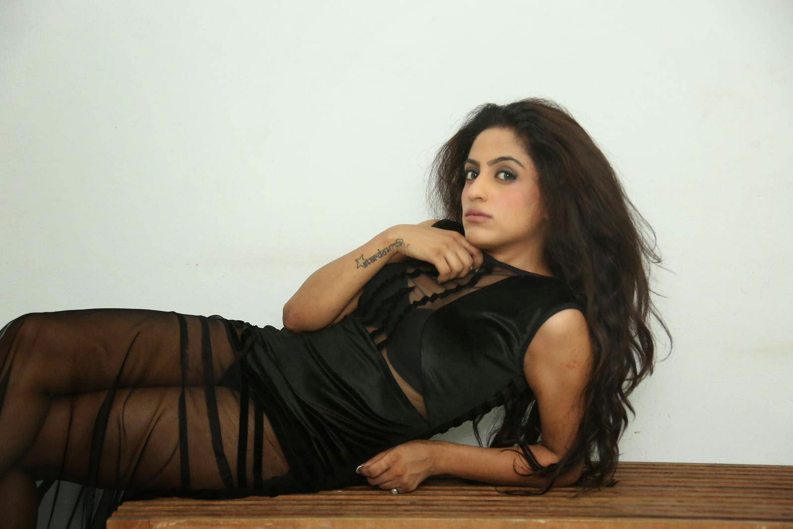 Virti Khanna In Black Spicy Dress Latest Photos