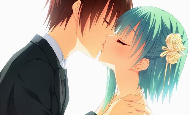 anime girl,anime kiss,anime guy