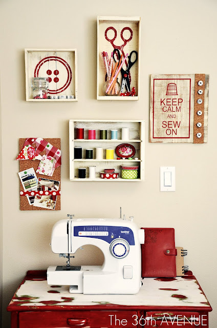 """Sew"" cute DIY Decor Tutorial at the36thavenue.com …Adorable!"