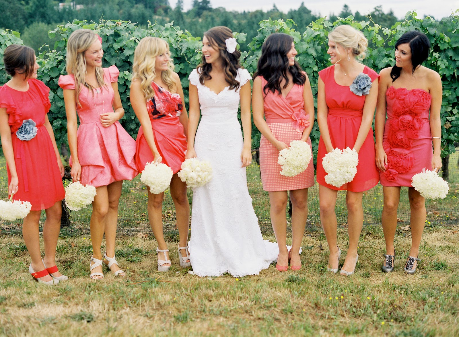 here are my other favorite pegs for mismatched bridesmaid gowns