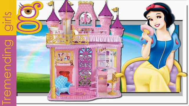 Castillo Royal Princesas Disney de 2 pisos y 4 habitaciones - Palacio Princesas Disney