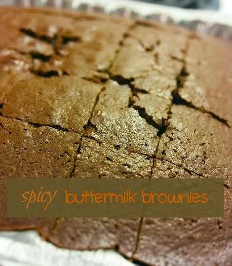 spicy buttermilk brownies