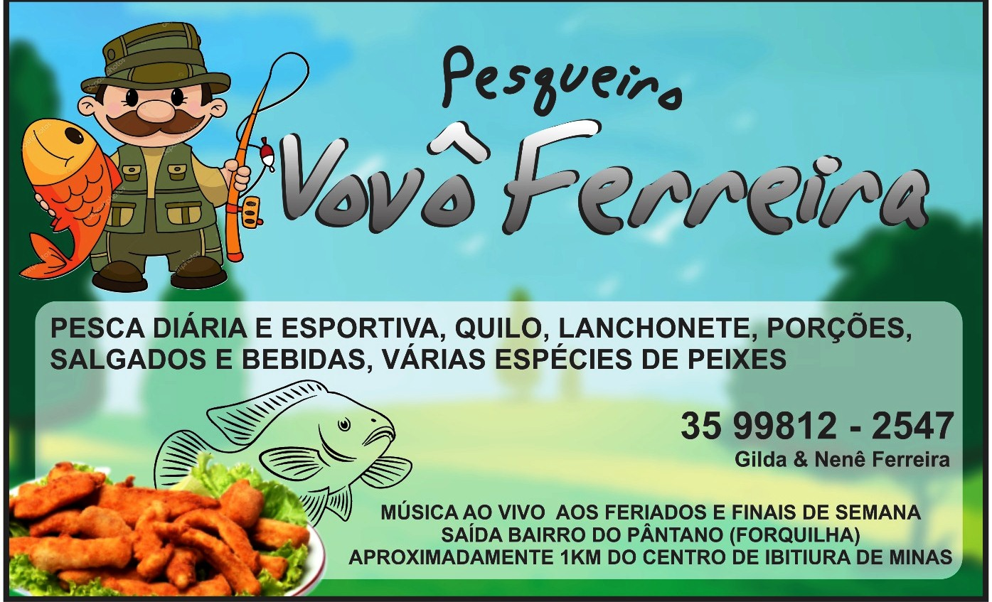 PESQUEIRO VOVÔ FERREIRA SAIDA PARA O PANTANO IBITIURA DE MINAS