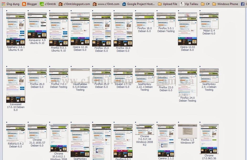 Browsershots - Ping website online tới 200 trình duyệt | SEO Grey