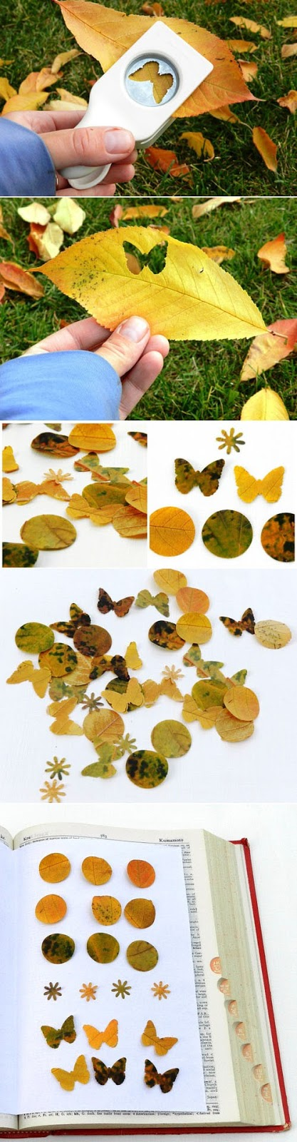decoración con hojas