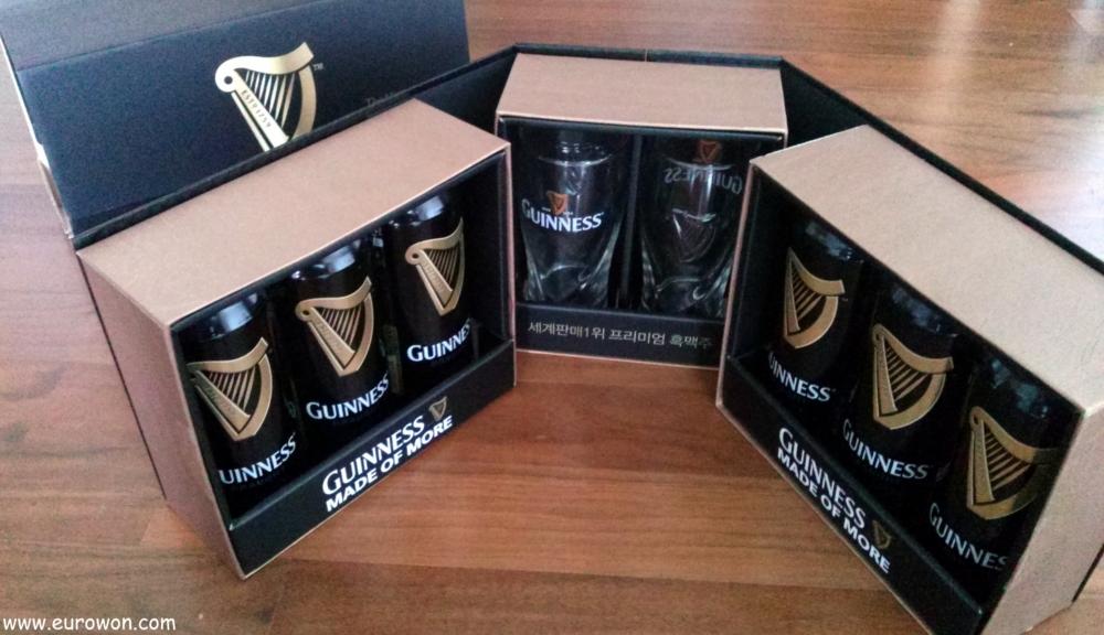 Pack de cerveza Guinness en Corea