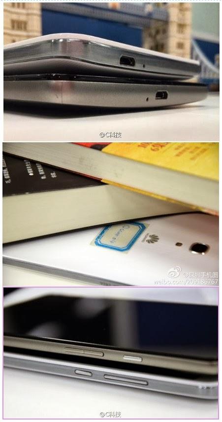Nuove immagini per il prossimo phablet di grandi dimensioni Ascend Mate 2 diffuse tramite Weibo