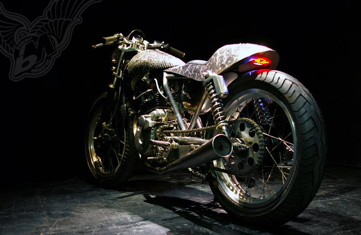 Engraved Honda Ft500 Cafe Racer Bikermetric