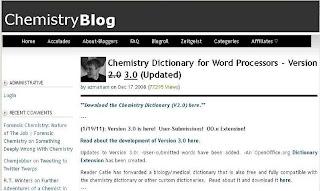 MS-Wordのユーザー辞書に登録できる化学専門用語辞書
