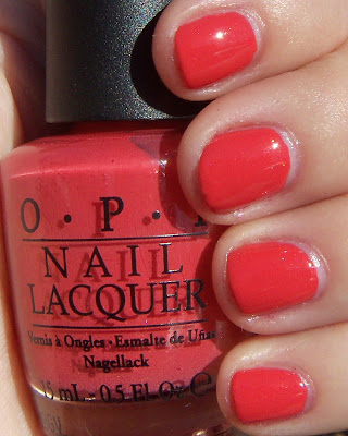 OPI I Eat Mainely Lobster Swatch