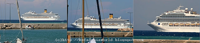 Costa Fortuna sailing by Kefaloniaa southeastern coast
