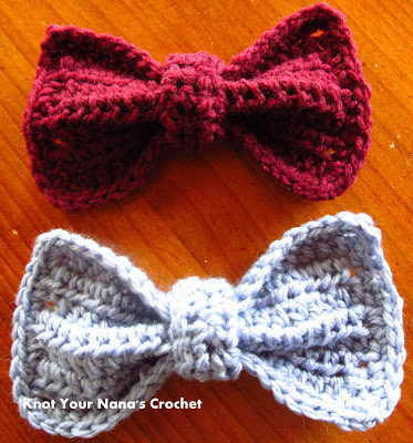Crochet-bows-free-pattern