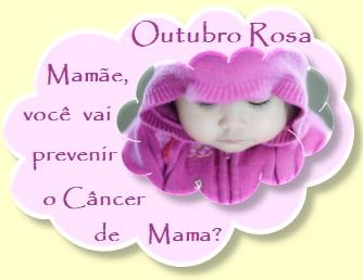 Outubro - mês de conscientização do câncer de mama