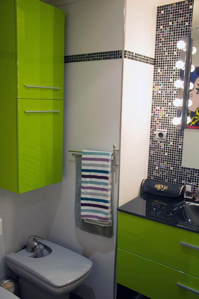 Antes y despu s el ba o de hadas y cuscus for Ideas para pintar azulejos de bano