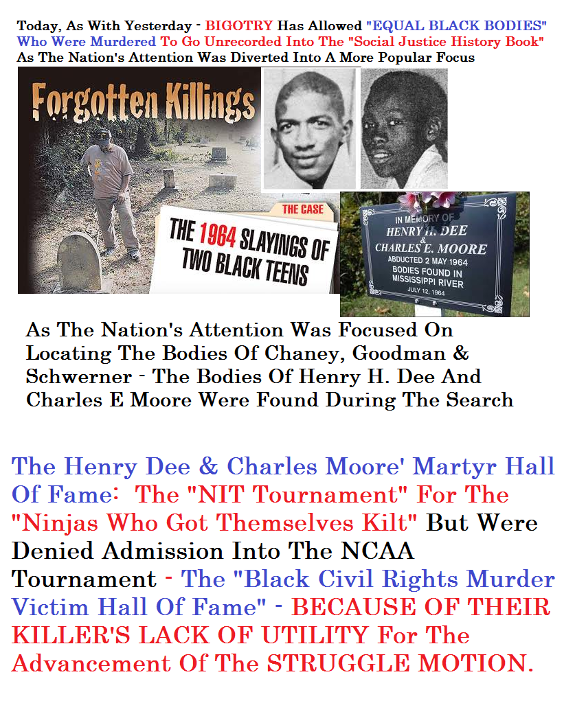 The Henry Dee &  Charles Moore Martyr Hall Of Fame & Last Chance NIT Tournament