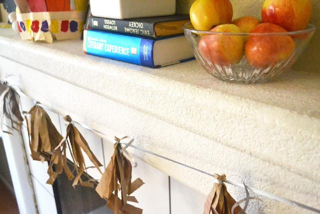 Brown Paper Bag DIY Tassel Garland