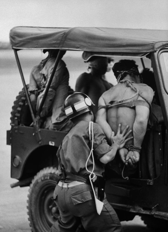 Suspected guerrillas jeep blindfolded